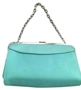 Anne Klein Teal Leather Turquoise Clutch