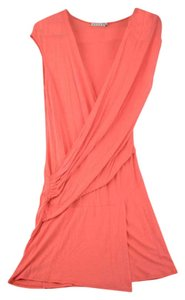 08712a9c6a Kookaï short dress Coral Draped Sleeveless Soft on Tradesy