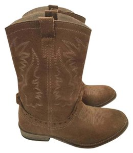 Bronx Cowboy Leather Tan Beige Boots
