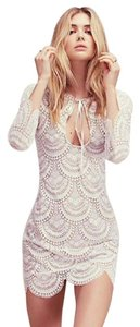 For Love & Lemons Lace Bachelorette Bridal Mini Dress