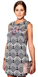Free People short dress Geometric Beaded Aso Celeb Mini on Tradesy