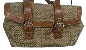 Coach Tote Signature Satchel in Brown