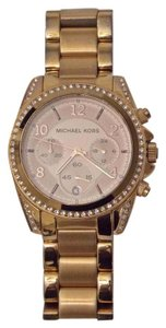 Michael Kors Michael Kors Ladies Watch Blair Rose Gold Tone Chronograph Stainless