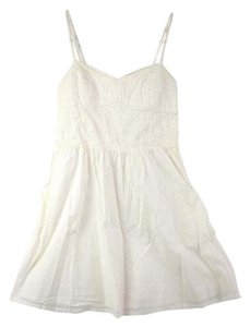 Divided by H&M short dress white Summer Eyelet on Tradesy