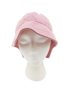 Chanel Chanel Pink Cotton Knit Black CC Logo Bucket Hat