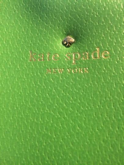 Kate Spade Leather Stripes Summer Out And About Gold New York Trendy Chic Shoulder Bag