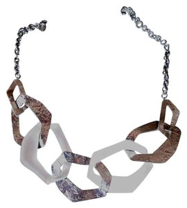 Alexis Bittar Alexis Bittar Liquid Metal and White Lucite Necklace