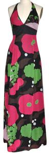 Black, Raspberry, Green, White, Brown Maxi Dress by Kenzo