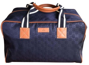 Gucci Navy Guccissima Travel Bag