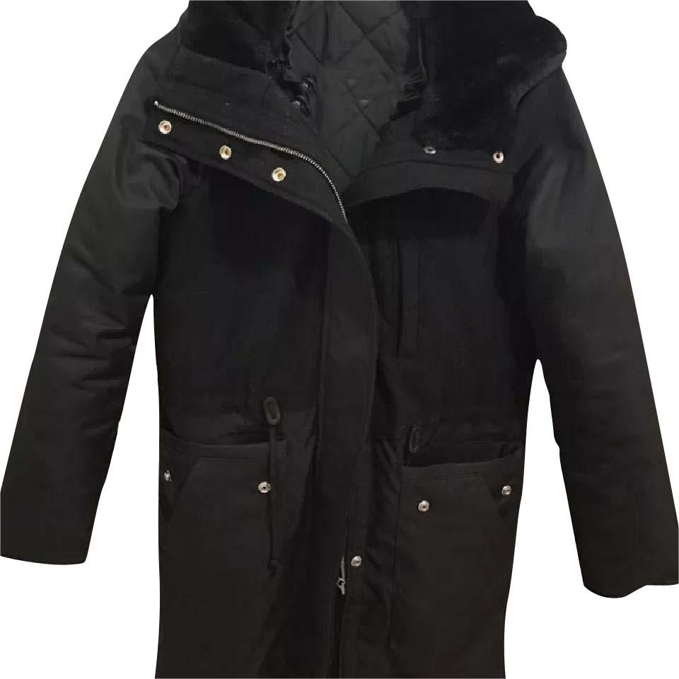 1d1d638af Gap Women's Black Double Breasted Quilted Lined Winter Parka Jacket Small  Coat Size 4 (S) 62% off retail