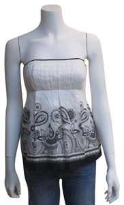 White House | Black Market Bustier Paisley Top white
