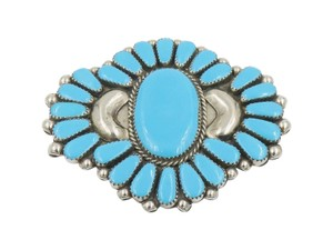 Other Turquoise Sterling Silver Navajo Style Pendant Brooch