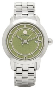 Tory Burch $500 NWT TORY BURCH Olive Green Dial Silver-Tone Watch TRB1007