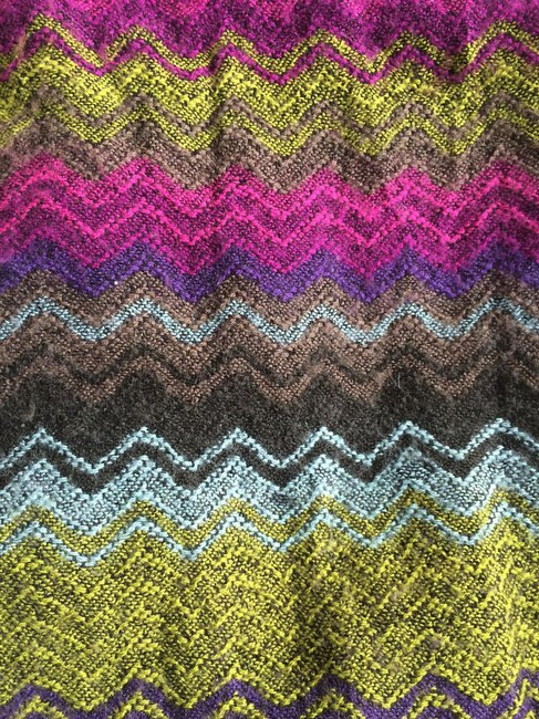 Item - Purple Green Pink Multicolor Knit Infinity Scarf/Wrap