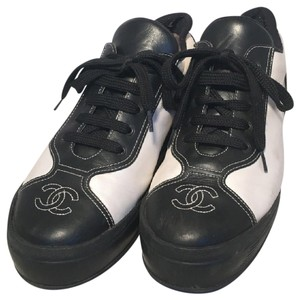 Chanel Sneakers Platforms Sneakers Tennis black white Athletic