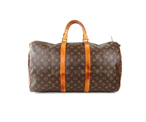 Louis Vuitton Travel Vintage Keepall 50 Lv Brown Travel Bag