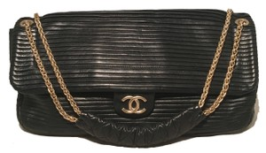 Chanel Classic Pleated Leather Classic Flap Flap Rare Shoulder Bag