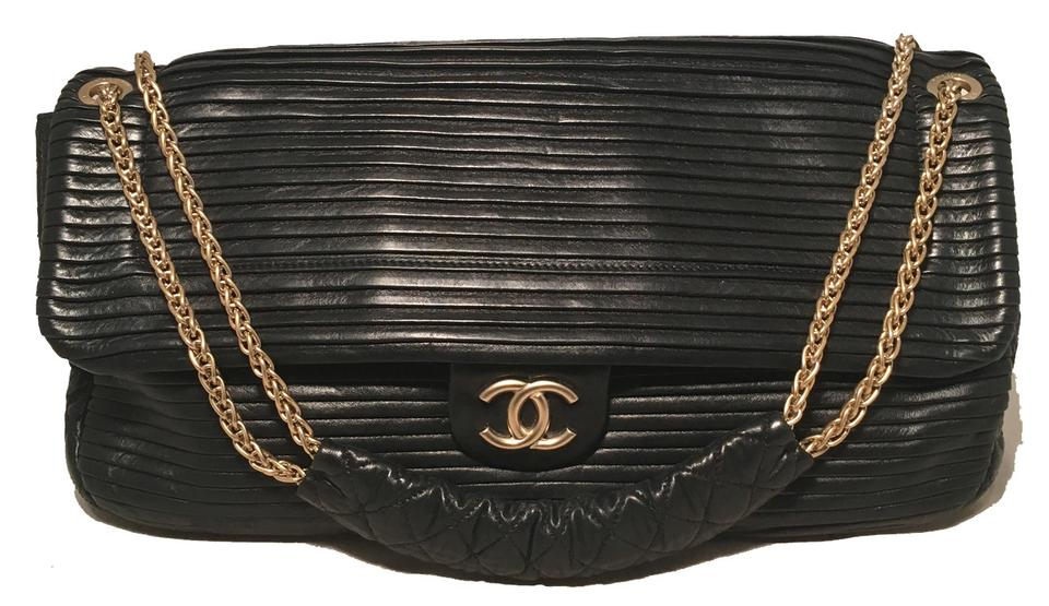 29c28a35c75f Chanel Classic Pleated Leather Classic Flap Flap Rare Shoulder Bag Image 0  ...