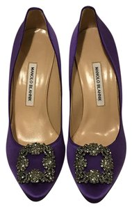Manolo Blahnik Sex And The City Carrie Bradshaw Blahniks Stilletos Stilleto Purple Pumps