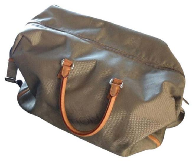 Item - Damier Geant Soft-sided Grey Canvas with Tan Leather Detail Weekend/Travel Bag