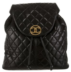 Chanel Knapsack Lambskin Flap Quilted Backpack