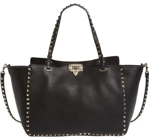 Valentino Leather Tote in Black