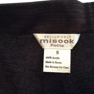Misook Straight Pants chocolate/black multi
