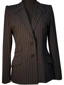 Escada Lined Pinstripe Wool blue Blazer
