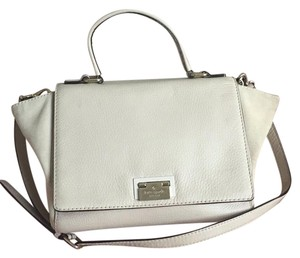 Kate Spade Satchel in nude leather with suede on the side