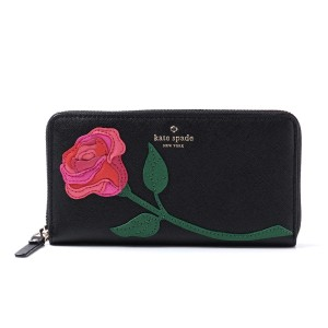 Kate Spade Kate Spade Rose-Colored Glasses Rose Applique Lacey Wallet NEW