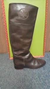 Tory Burch Riding Tall Brown Boots