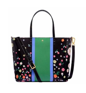 Tory Burch Patent Leather Tote in Villete