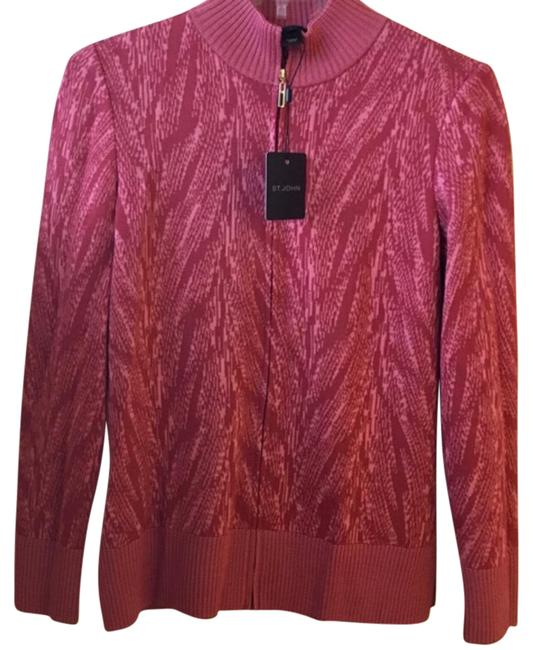 Item - Red Sweater Jacket Size Petite 4 (S)