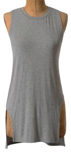 Anthropologie Angular Racerback Top Grey