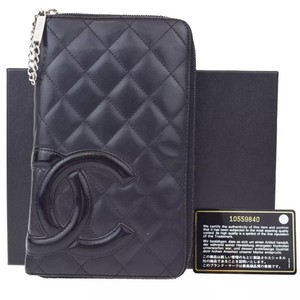 Chanel Chanel CC Quilted Long Bifold Wallet