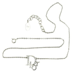 Dior Dior Crystal logo Strass Chain Accessory Necklace