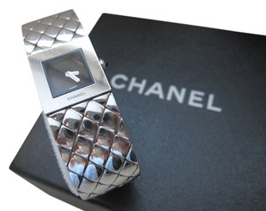 Chanel CLEARANCE SALE AUTH.CHANEL STAINLESS STEEL MATELASSE QUARTZ WATCH