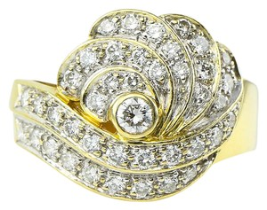 Ladies Diamond Cocktail Gold Ring * Ladies Diamonds Cluster 18K Gold Cocktail Ring
