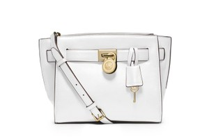 Michael Kors Next Day Shipping Optic White Messenger Bag