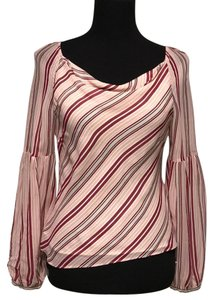 Laura Ashley Sheer Striped Top multicolor