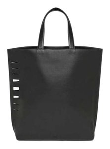 Vince Leather Lambskin Cut-out Tote in Black
