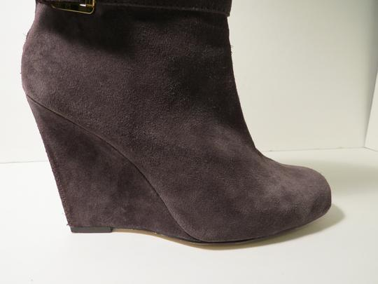 Michael Kors Suede Ankle Wedge Gray Boots Image 4