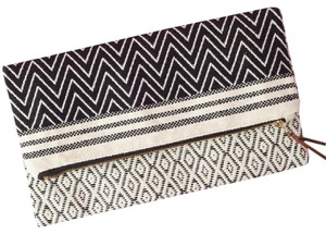 Tribe Alive Black and White Clutch