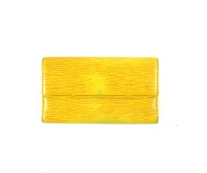 Louis Vuitton Yellow Epi Leather International Long Clutch Wallet Spain