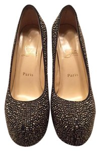 Christian Louboutin Hematite Crystal Strass Pumps
