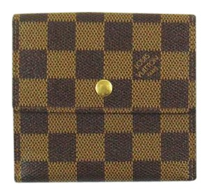Louis Vuitton Porte-Monnaie Billets Damier Canvas Leather Trifold Wallet France