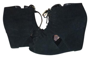Jeffrey Campbell Black/grey Wedges