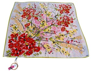 "Vera Neumann Vera Neumann for Target ""Blossom Time"" large square floral scarf"