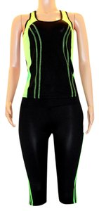 UPHILL FASHION New-Neon Green -Women-Yoga-Fitness-Workout-Running-Sports-Gym
