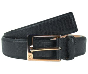 Gucci GUCCI 345658 Unisex Diamante Belt with Square Buckle Belt 95 - 38